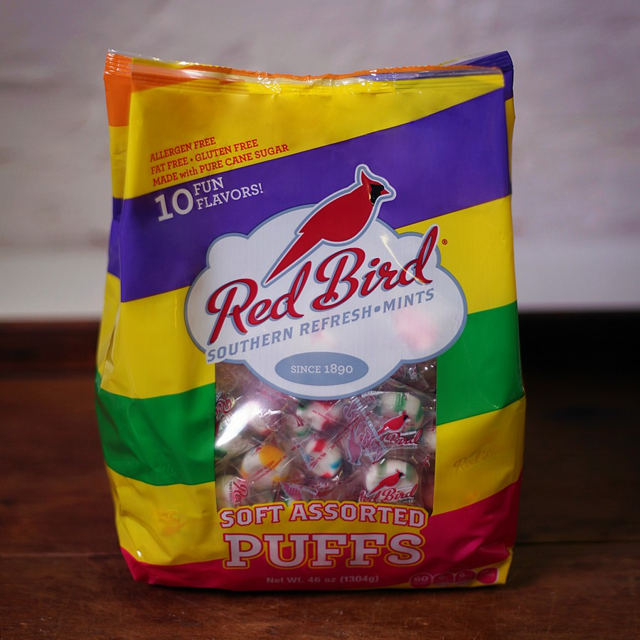 Red Bird Assorted Puff Bag