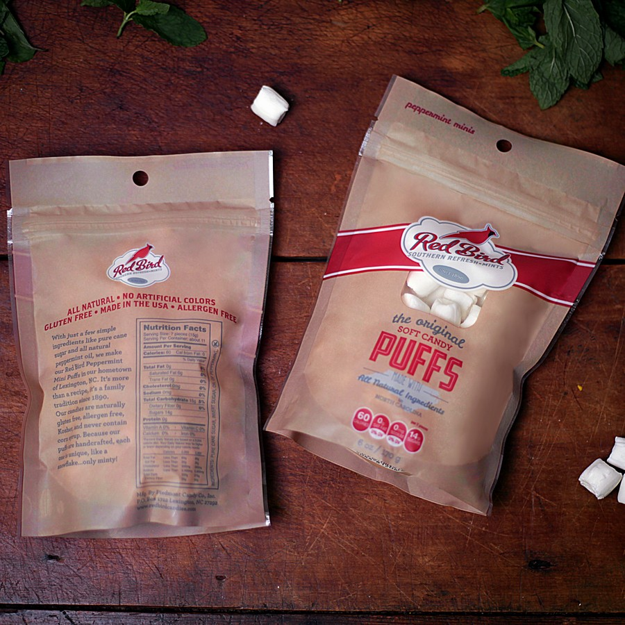 Red Bird Natural Peppermint Puff Bags