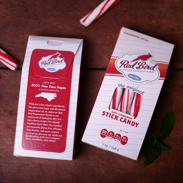 Red Bird Peppermint Sticks Box